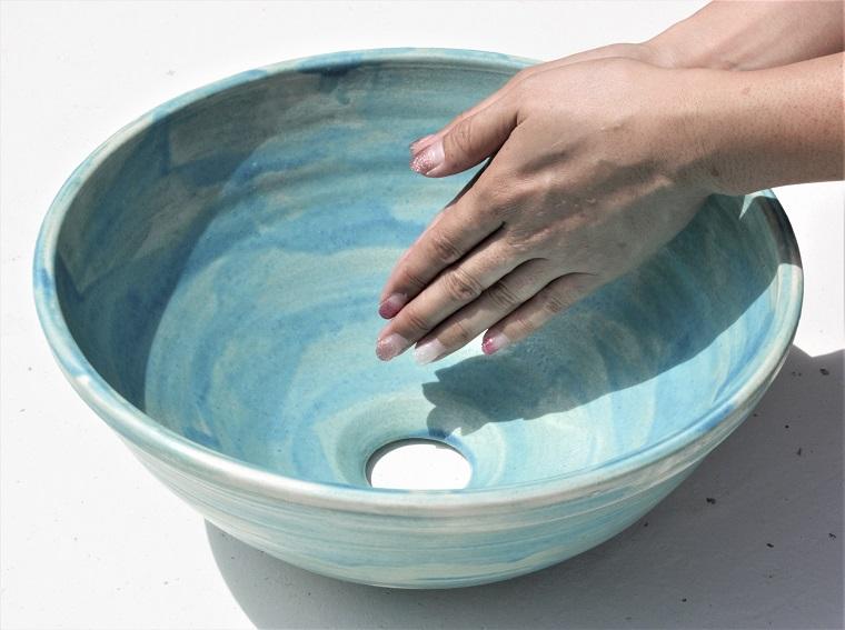 やちむん洗面ボウル 沖縄陶器あれこれ