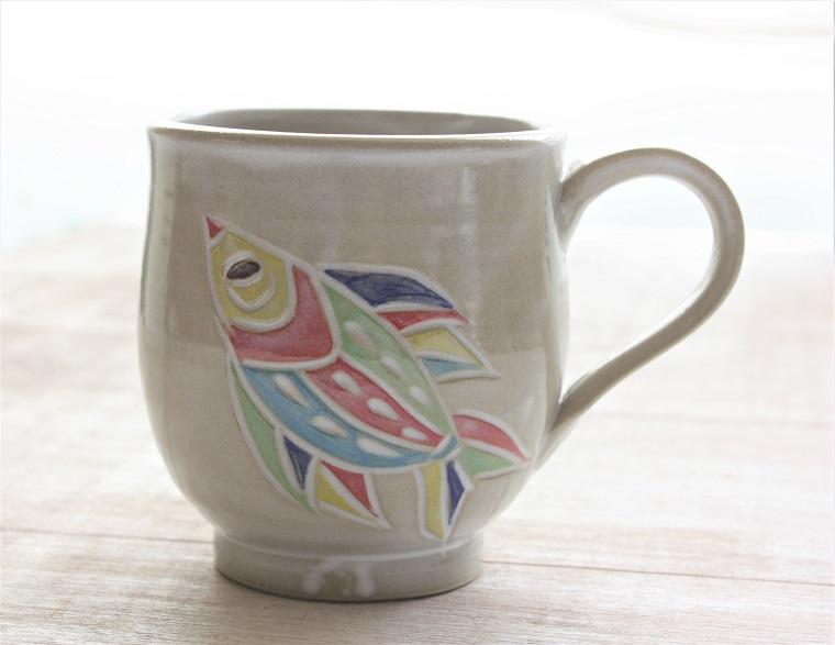 紅型のマグカップ|沖縄陶器ヤチムン