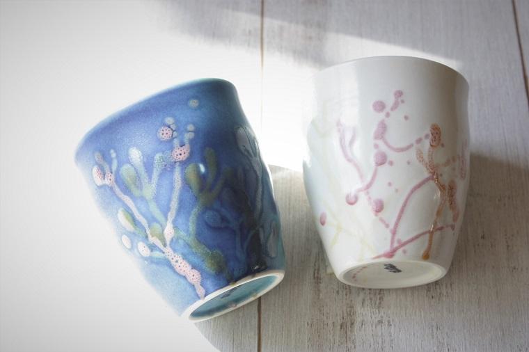 やちむんのフリーカップ|珊瑚シリーズの食器