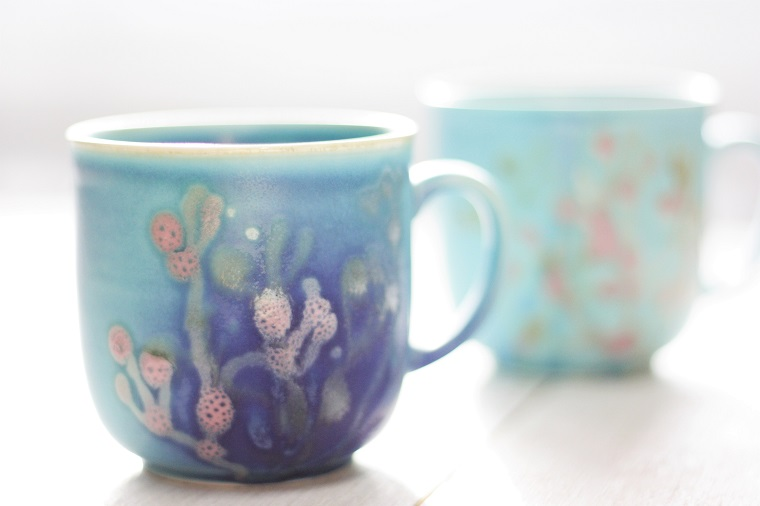 やちむんカップ|ギフトに最適な珊瑚のカップ